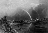 A dramatic view of Preston, Lancashire : though there's no pot of gold at the foot of the rainbow, there are booming mills.