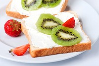 Kiwi-Strawberry Toast - 08/06/2009