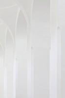 Moritzkirche, Augsburg, Germany. Architect: John Pawson, 2013. All white archway view.