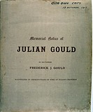 'A Memorial Notice of Julian Gould, D Company, 16th Battalion Middlesex Regiment. k.i.a. 30th May 1917 near Monchy-le-Preux aged 25 years. This book w...