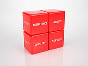 Red Customer Service Cubes