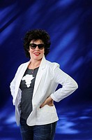 Ruby Wax, American comedian and Writer, attending the Edinburgh International Book Festival, Wednesday 14th August 2013.