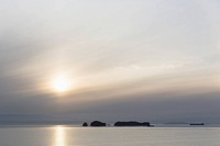 Canada, British, Columbia, Vancouver Island, Inside Passage - Port Hardy, Prince Rupert, sunset