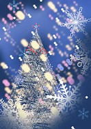 Snow crystal and Christmas tree