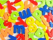 Magnetic letters close_up