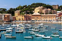 Italy, Liguria, Sestri Levante, Baia del Silenzio