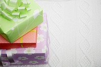Stack of gifts close_up