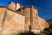 Apse of the Romanesque church of San Andrés - Soto de Bureba - La Bureba - Burgos - Castilla y Leon - Spain – Europe.