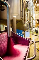 Winemaking in the largest wine region of Catalonia, the Penedes. Barcelona, Spain.