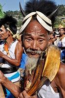 India, Arunachal Pradesh, Tirap region, Nocte tribe, Chalo Loku festival.