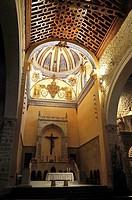 Church of Santa María de los Reales Alcázares, vault and altar, Ubeda, Jaen province, Spain