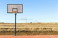 View of a basket from the front. Pozondon, Teruel, Spain