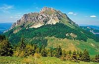 View of Velky Rozsutec from Stoh, NP Mala Fatra, Slovakia.