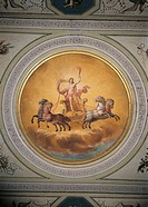 Apolloss Chariot, by Anonymous artist, 19th Century, 1800 -1825 about, fresco, . Italy, Lazio,Rome, Palazzo Spada, Zodiaco Room, vault.