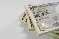 Stack of Japanese money