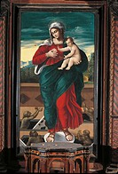 Church of Santa Maria delle Grazie, 15th Century, . Italy, Molise, Frosolone, Chiesa di Santa Maria delle Grazie. All. The Madonna and Child in the mi...