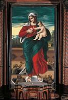 Church of Santa Maria delle Grazie, 15th Century, . Italy, Molise, Frosolone, Chiesa di Santa Maria delle Grazie. All. The Madonna and Child in the mi...