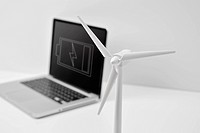 wind turbine models and Laptop PC