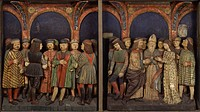 Marriage of the Virgin, by Ambrogio Donati, Giovan Pietro Donati, 1495 - 1498, 15th Century, wooden painted bass-relieves. Italy, Lombardy, Lodi, Civi...