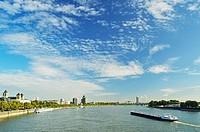 River Rhine, Cologne, North Rhine-Westphalia, Germany, Europe