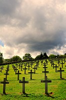 Military cemetery from World War I, Hartmannswillerkopf hill or Vieil Armand hill, Vosges mountains, Haut-Rhin department, Alsace region, France