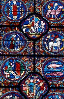 Stained, Chartres Cathedral, Chartres, France.