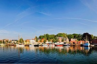 Panorma : The Port of Eckernf ¿ would - Eckernf¿rde, Schleswig-Holstein, Germany, 07/08/2007