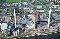 MANNHEIM 05.05.2011 Blick auf die Erweiterungsarbeiten am Steinkohlekraftwerk Mannheim in Baden-Württemberg. Das Kraftwerk am Rhein wurde 1923 von der...