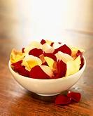 Bowl with rose petals