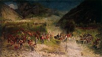 Bezzecca Battle (La battaglia di Bezzecca), by Felice Zennaro, 1866, 19th Century, oil on canvas, 164 x 290 cm. italy, lombardy, Milan, Museum of the ...