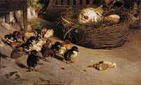 Death of a Chick (La morte del pulcino), by Luigi Nono, 1881, 19th Century, oil on canvas, 77 x 122 cm. Italy, Veneto, Venice, Ca' Pesaro, Internation...