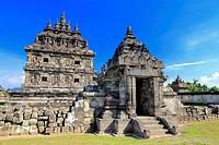 Candi, Plaosan temple (840s), Prambanan, near Yogyakarta, Java, Indonesia.