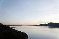 A River at Twilight. Pyay, Myanmar