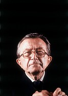 Giulio Andreotti. Close-up of a smiling Giulio Andreotti, the leader of the Christian Democracy party. Italy, 1993.
