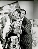Paolo Ferrari and Marisa Del Frate in Il naso finto. Italian actor Paolo Ferrari and Italian actress Marisa Del Frate performing in a sketch in the TV...