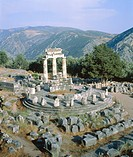 Tholos of the Athena Pronaia in Delphi, Greece