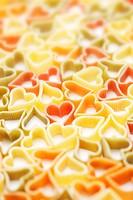 Heart shaped pastas