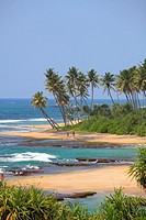 Sri Lanka, Galle, beach of Lighthouse Hotel,.