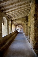 Abbey Cloisters, St Guilhem le Desert, Languedoc-Roussillon, France.