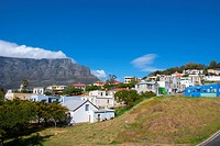 Table Mountain from Bo Kaap, Cape Town.