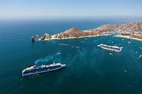 Cruise ships at Cabo San Lucas, Cabo San Lucas, Baja California Sur, Mexico