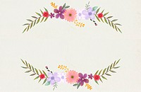 a template with a copy space decorated by flowers