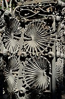 Detail of wrought work. Vicens House 1878-1880 by Antoni Gaudi. Barcelona, Catalonia, Spain.