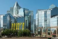 Nurly Tau Business Center at the Al-Farabi Avenue, Bostandyksky District, Almaty, Kazakhstan.