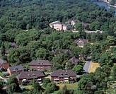 DEUTSCHLAND, OBERHAUSEN, NEUE MITTE, D-Oberhausen, Ruhr area, Lower Rhine, North Rhine-Westphalia, D-Oberhausen-Neue Mitte, panoramic view to castle O...