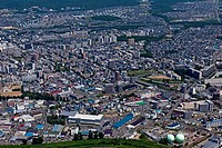Aerial view of The lark is hill surroundings, Sapporo City