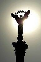 Kiev, Statue of Liberty at Indepedence Square (Majdan), Ukraine, Kiev, Kiev - Majdan Nezaleznosti