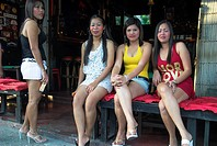 Bar hostesses, Chiang Mai, Thailand.