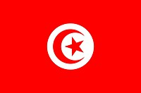 National flag of the Tunisian Republic - Caution: For the editorial use only. Not for advertising or other commercial use!.