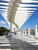 New port of Malaga, El Palmeral de las Sorpresas, Costa del Sol, Spain, Europe.